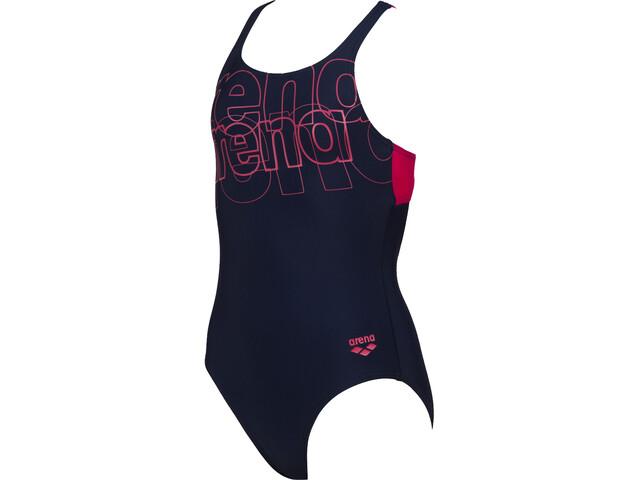 arena Spotlight Swim Pro Back Maillot de bain une pièce Fille, navy/freak rose